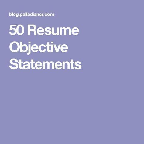 Government resume objective examples